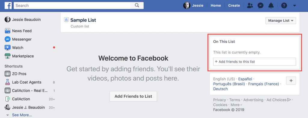 How to DM your FB list